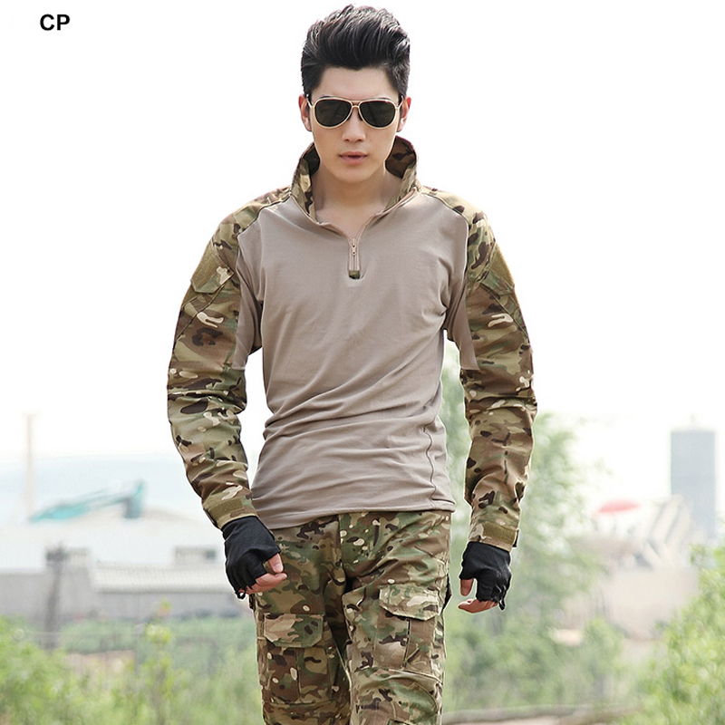 Tactical Military Uniform Clothing Army Camo Camouflage Uniform Combat Shirt Pants With Knee Pads Hunting Paintball Clothes military uniform multicam army combat shirt uniform tactical pants with knee pads camouflage suit hunting clothes