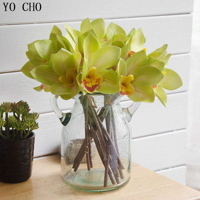 YO CHO Cheap 3D printing 4 heads Cymbidium Bouquets flores ...