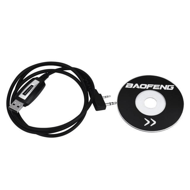 Cabo de Programação USB CD de Software Do Programa para Baofeng Rádios UV 5R BF 888S Jan 22