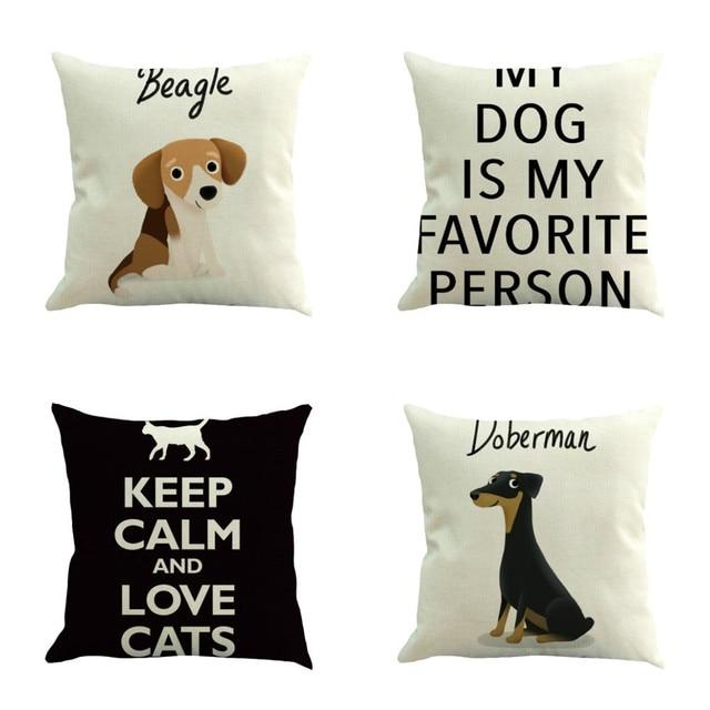 Pet Dog Cat Pattern Throw Pillow Case Decorative Pillows For Sofa Inspiration Decorative Pillows Dogs