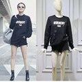 Kpop harajuku Moda feminina rua Hoodies crewneck camisola de algodão mulher de manga longa pullover mulheres hoodies BTS Angustiado