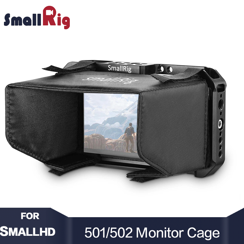 SmallRig DSLR Camera Monitor Cage for SmallHD 501/ viewfinder / for SmallRig 502 Monitor Cell With Sunhood Sunshade 2177