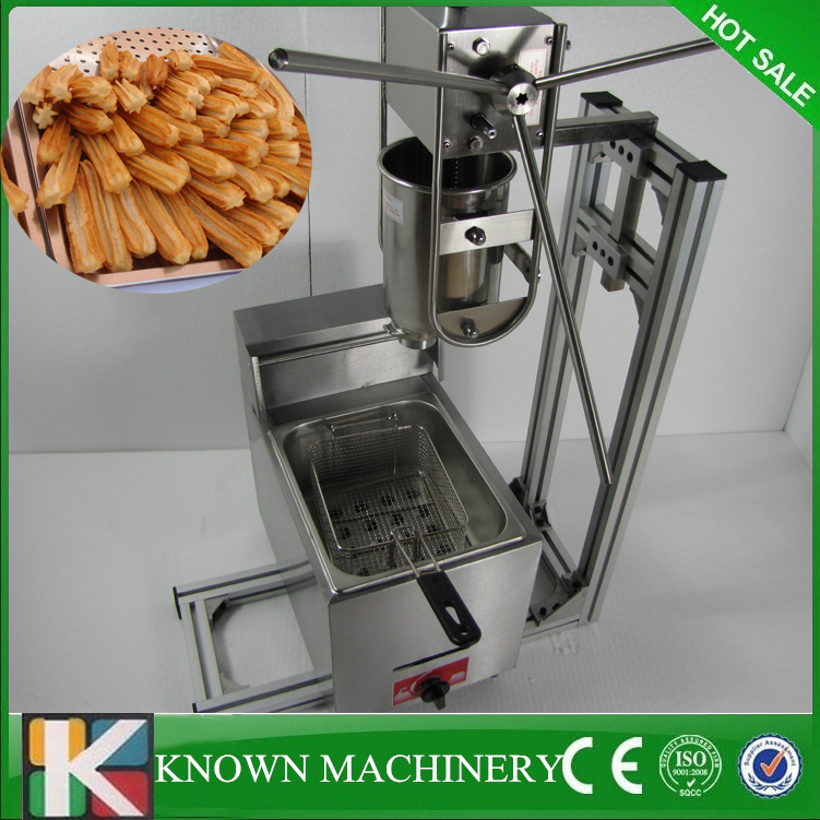 Electric Fryer good shape of churros stainless steel 6L gas fryer 3L Spanish churro churrera maker machine commercial stainless steel churro machine 25l electric fryer manual spanish churros maker 4 nozzles
