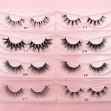 Visofree Mink Eyelashes Natural False Eyelashes Fake Eye Lashes Long Makeup 3D M