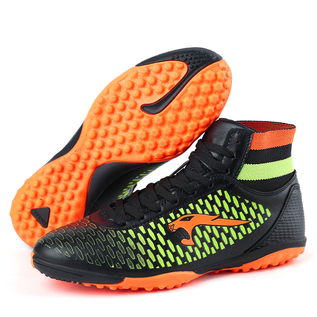 d46c3a3263ecd 2017 New Kids Boys Mens Soccer Boots High Ankle Football Shoes Hard Court Turf  Soccer Cleats Botas De Futbol Con Tobillera