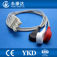 MP20 with 3lead ECG Trunk cable with AHA ,Snap ECG monitor Cable