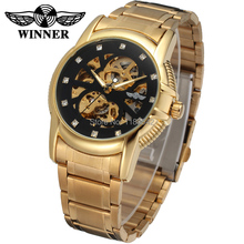 New Business Watches Men Factory Shop Top Quality gold Automatic Men Watch stainless steel Free Shipping