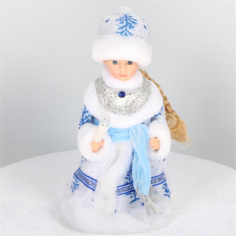 Русская версия Кукла Снегурочка Санта Клаус говорящие игрушки электрическая Музыкальная Рождественская кукла украшения Рождественские подарки для детей