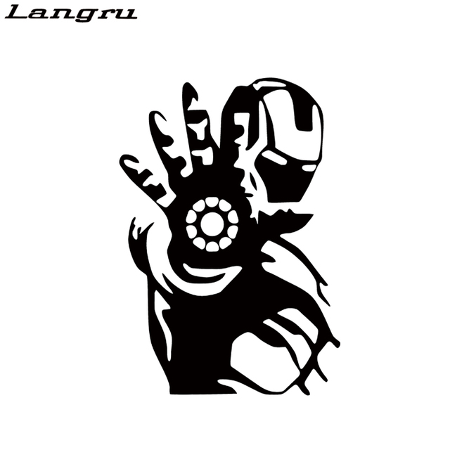 Langru car stying iron man avengers bumper sticker window car truck decal vinyl creative stickers jdm