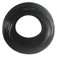 S092 100M/roll 1/4'' 6.35mm black white PE tube PVC hose food grade material for misting kits irrigation system