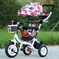 Alta calidad de bebé trolley niños multifuctioal pedal triciclo cochecito de bebé especial para 10-month-5-year-old niños