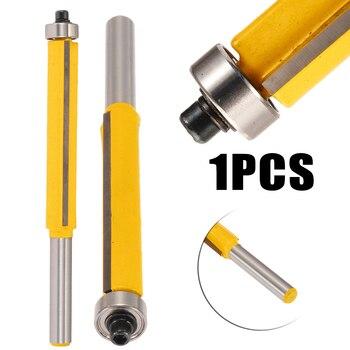 цена на 1pc Extra Long Flush Trim Router Bit 1/4 Shank x 3/8 Cutting Diameter x 2 Height For Woodworking Milling Cutter