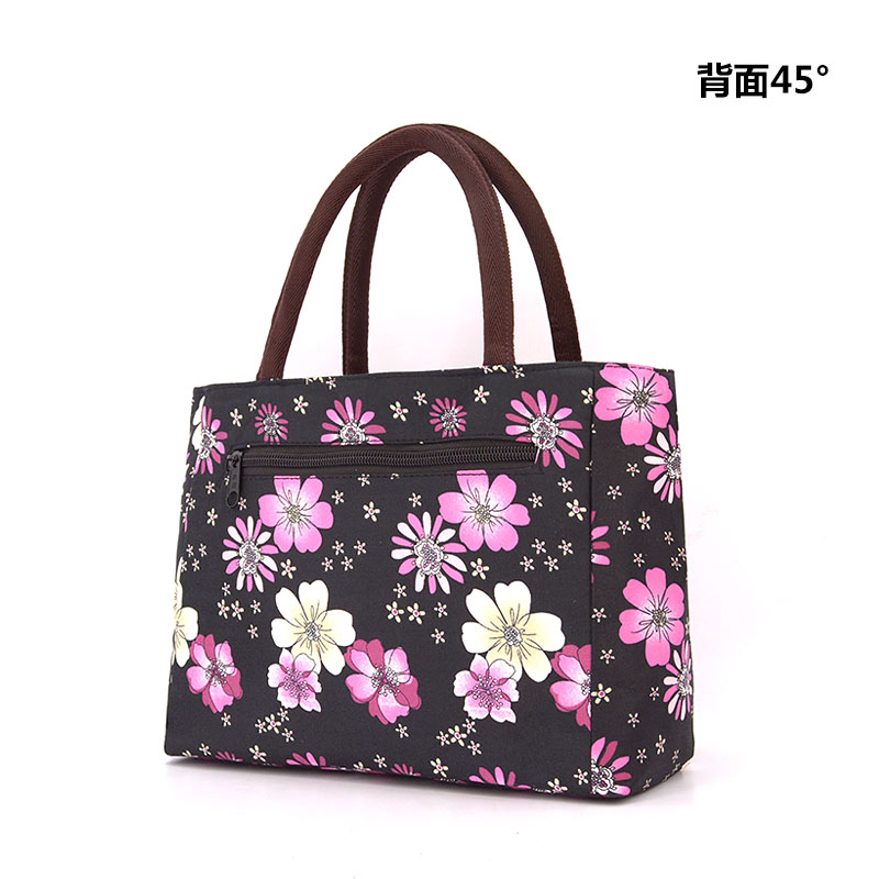 2016 Korean New Lunch Bag Flowers Storage Box Insulated Pouch Picnic Tote High Quality Free Shipping Mommy Bag
