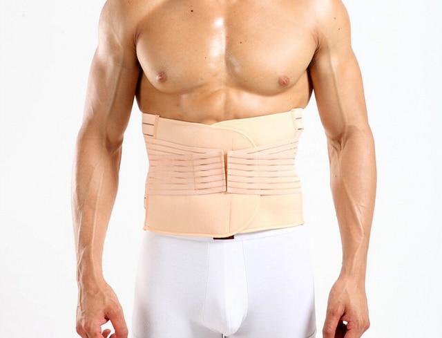 PRAYGER Men Touch Girdle Body Shaper Tummy Trimmer Slimming warp Abdomen Bone Support Back belly Compression Belt Waist Cinchers 4