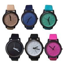 2016 Fashion Brand Geneva Watch Leather Clock Quartz Watches Luxury Ladies Dress WristWatch Women's relogio masculino