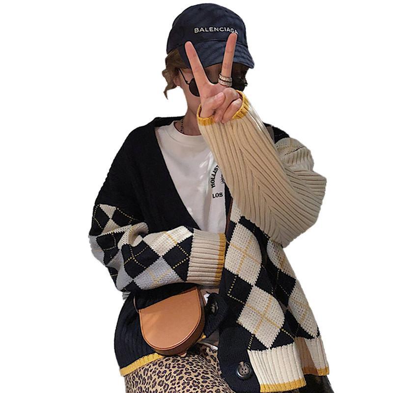 Tricot V795 Manteau Vintage Mode Dames Chaud 2019 De Femme Plaid Automne Occasionnel Cardigans Chandail Tricoté Nouveau Femmes Tops En Printemps n4HCwxqCT