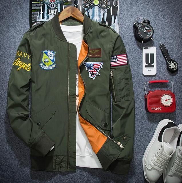Aliexpress.com : Buy yizlo ma1 bomber jacket mens spring jackets ...