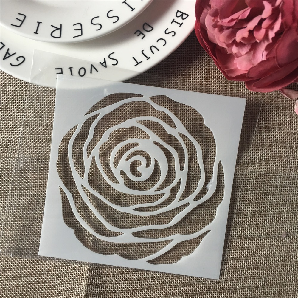 1Pcs 13cm Circle Flower Design 96 DIY Layering Stencils Wall Painting Scrapbook Coloring Embossing Album Decorative Template