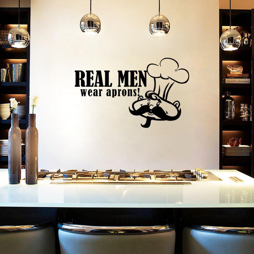 Möbel & Wohnen Real Men Kitchen Wall Vinyl Sticker Decal Decor ...