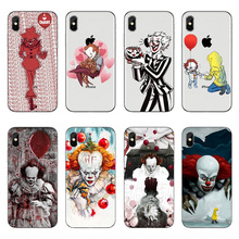 Pennywise Clown Horror Soft TPU Phone Case For iPhone X 8 8Plus High quality silicone Cover for iPhone 5 5S SE 6 6S Plus 7 7Plus недорого