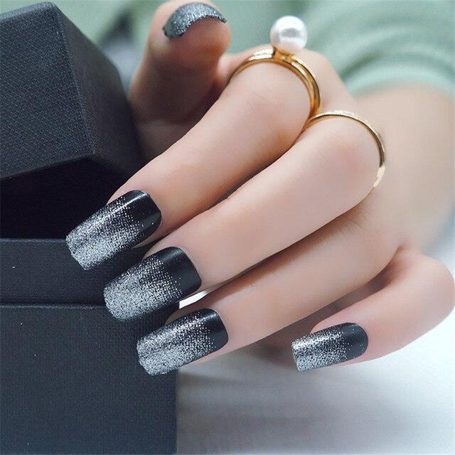 Esmalte de Uñas de lujo Parche Tira Glitter Foil Con Palito Cutícula ...