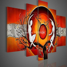Dafen Oil Painting Village Wholesale Price High Quality Handmde Abstract African Nude Canvas  for Wall Decoration