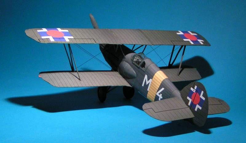 DIY Paper Model Czechoslovakian Fighter Avia B.534 WW II Boy Gift Papercraft 3D Puzzle