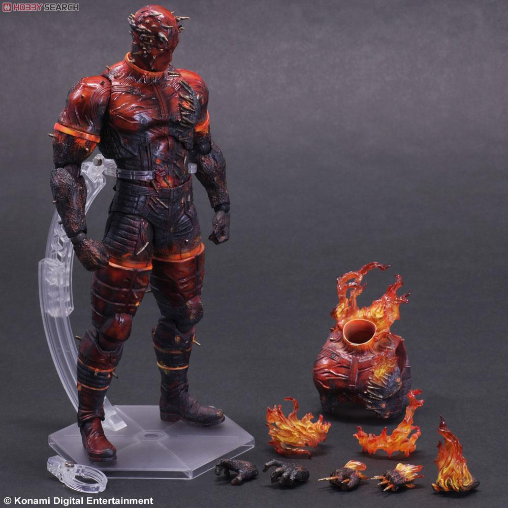 METAL GEAR SOLID V THE PHANTOM PAIN PLAY ARTS Flaming man Action Figure Super Hero
