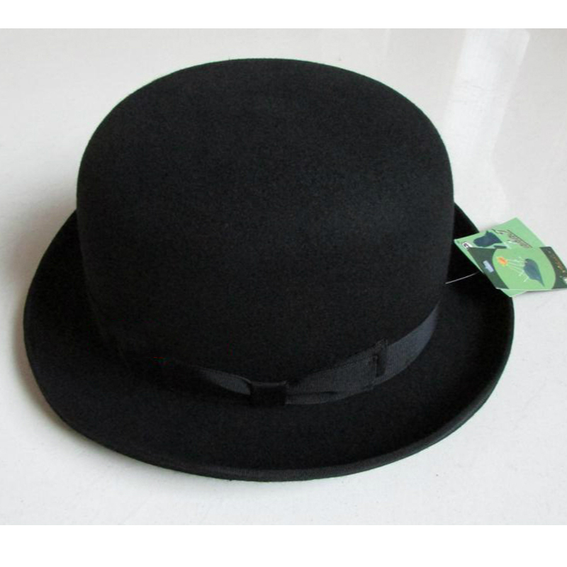 LIHUA Brand Party Fashion Bowler Hat 100% wool fedora trilby hats for men  derby felt billycock hats men s dome chapeu casquette-in Fedoras from  Apparel ... 18d81b9128c9
