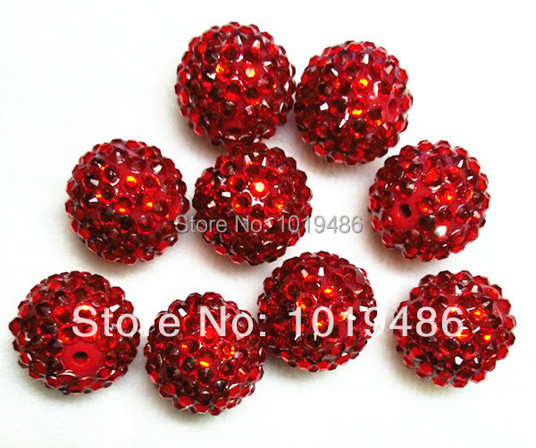 18X20MM Red color 100pcs   lot Chunky Resin Rhinestone Beads 6daa5d369802