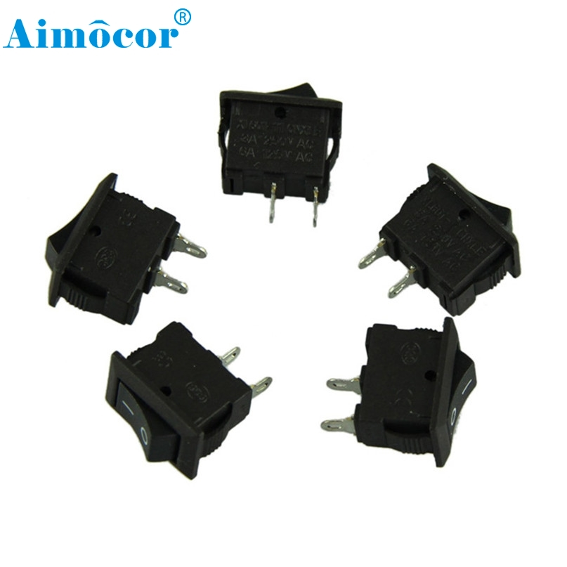 Home Wider Hot Selling Free shipping Safety 5 x AC 250V 3A 2 Pin ON/OFF I/O SPST Snap in Mini Boat Rocker Switch Dec13