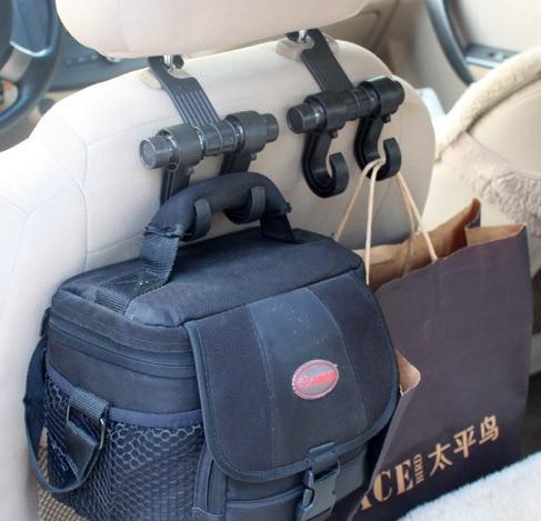 Car Seat Hanger Hooks Double Hooks Coat Purse Shopping Bag Organizer Holder Plastic Hanger,Car Styling,Car Seat Covers