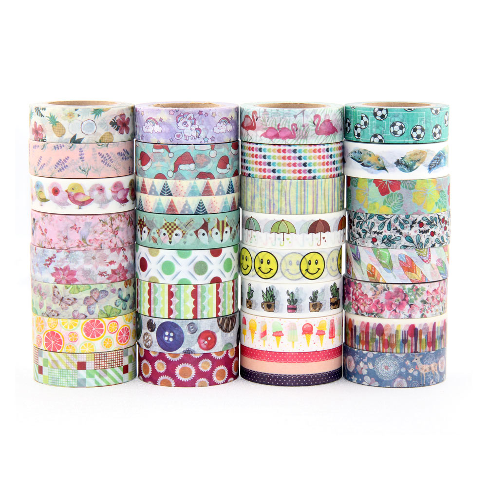 New Arrival 15MM*10M Christmas Fox Snowman Adhesive Washi Tape Office Supplies DIY Sticker Masking Tape Paper Tape