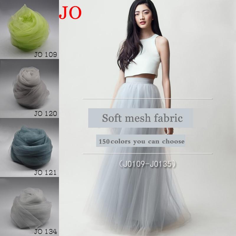 Nylon High-grade custom skirt yarn fabric handmade diy production princess solid color encryption transparent mesh