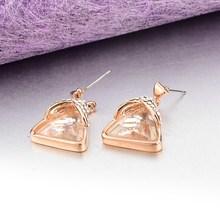 Rose gold Triangle Dangle Earrings