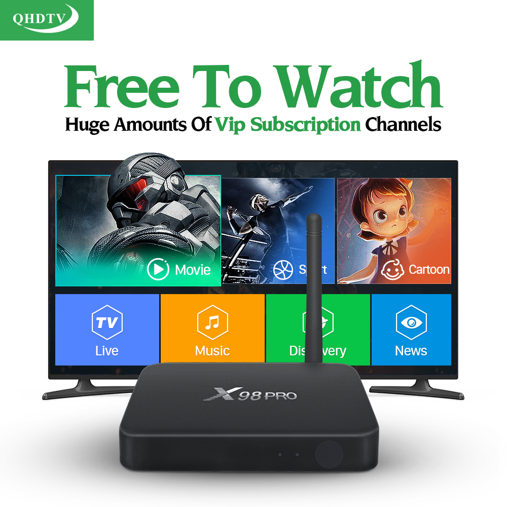 Dalletektv X98 PRO Android 6.0 TV Box Amlogic S912 Octa Core Streaming Media Player Wifi BT4.0 4K Arabic French Channels QHDTV медиаплеер merlin 4k android media hub