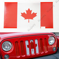 Metal Exterior Canada Flag Insect Nets Mesh Grille Grill Decor Frame Trim For Jeep Wrangler 2011