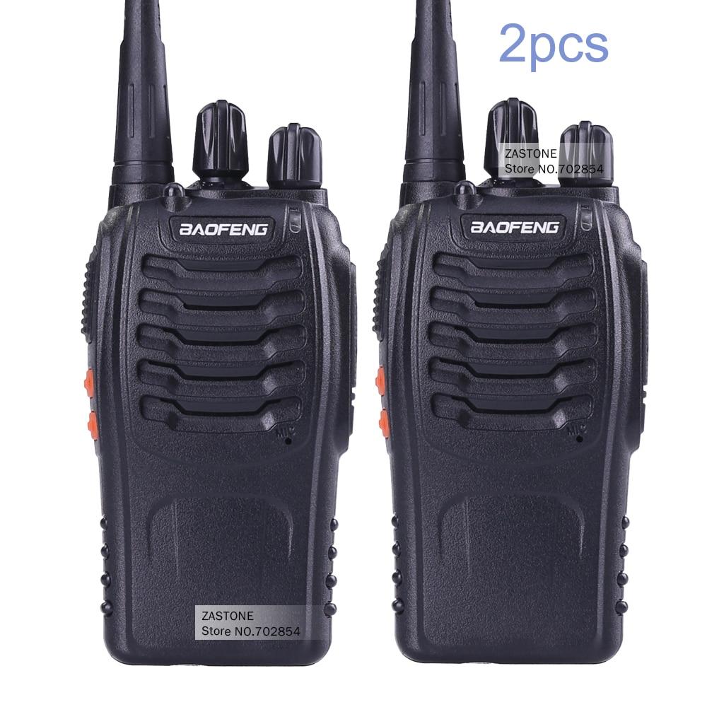 imágenes para 2 UNIDS Baofeng BF-888S Walkie Talkie 5 W UHF de Dos Vías Handheld de Radio bf 888 s 400-470 MHz frecuencia Portátil CB Radio Comunicador