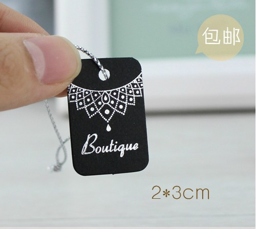 Free shipping (500pcs/lot), High quality black cardboard boutique ...