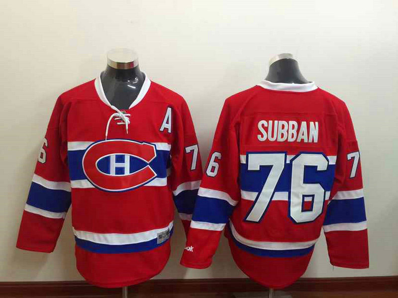 best service 60b7f 16bf3 Montreal Canadiens Jersey Subban Hockey Jersey 76 PK Subban ...