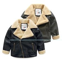 New boy baby zipper leather 2016 winter Korea children s wear children s lapels and fleece
