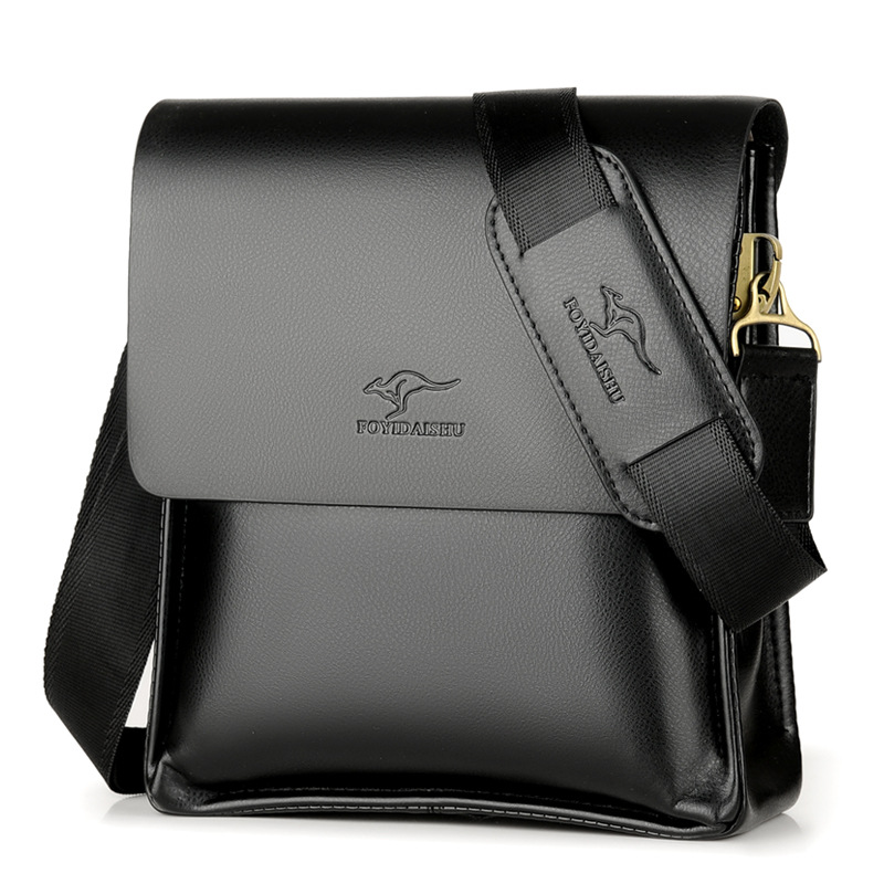 Kangaroo Men Bag Fashion Pu Leather Crossbody Bag Shoulder Men Messenger Bags Vintage Casual Designer Handbags Man Bags