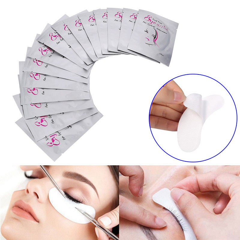 High Quality New 50/100/200 Pairs Eye Pads Lint Free Eyelash Gel Mask Eyepads Lashes Extension Patches