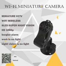 HD1080P WiFi camera Mini DV Wireless P2P Camera camcorder Video Record with alarm mini camera 8 LED Super Night vision lamp