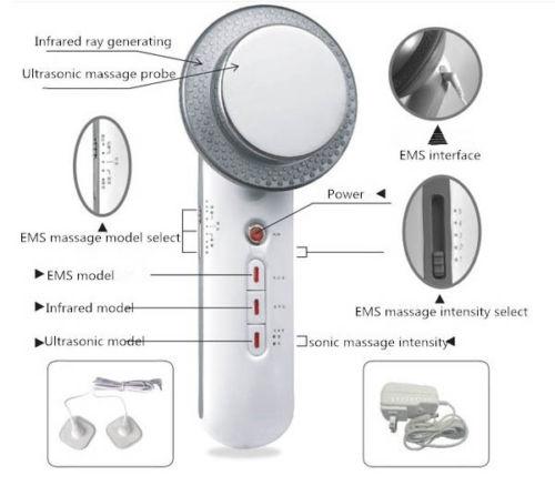 1 MHz ultrasonido cavitación EMS Cuerpo masajeador adelgazante pérdida de peso anti celulitis Fat Burner galvánico infrarrojos terapia ultrasónica