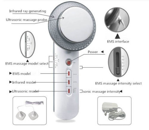 1MHz Ultrasound Cavitation EMS Body Slimming Massager Loss Weight Anti Cellulite Fat Burner Galvanic Infrared Ultrasonic Therapy 3 in 1 ultrasonic rf cavitation vacuum liposuction cellitule wrinkle fat reduction body sculpting slimming massager machine