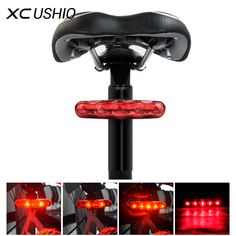Waterproof Bicycle Light New High Power 5 LED 3 Mode Cycling Bicycle Bike Caution Safety Red Rear Tail Lamp Light Anti shock