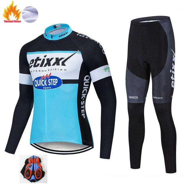 Etixxl Ciclismo Conjunto Inverno Térmico do Velo Sportswear À Prova de Vento Jaqueta Calças Ao Ar Livre Esporte Terno Homem Unisex Mulher Roupas Definir 3