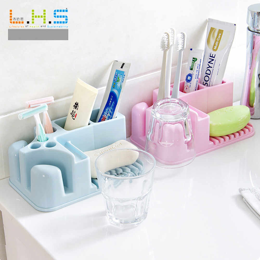New Bathroom Toothbrush Holder Bathroom Washable Storage Rack Cup Finishing useful bathroom storage household items