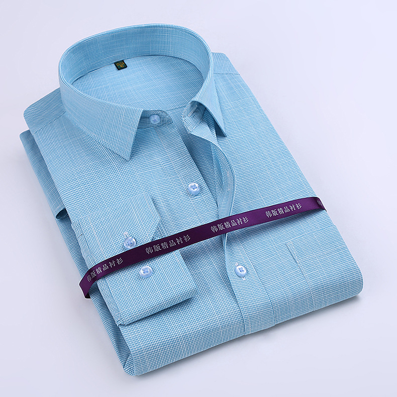 Brand Xindun Men Long Sleeve Bamboo Fiber Casual Shirt Slim Business Male High Quality Plaid Fashion Turn Down Collar Full Shirt